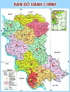 Bản đồ hành chính tỉnh Hưng Yên